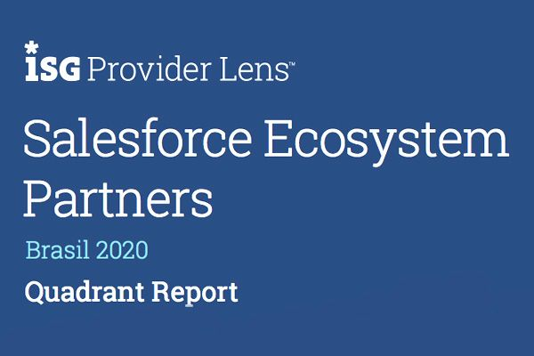 image of the cover of the ISG Provider Lens Salesforce Ecosystem Partners – Brazil 2020 Quadrant Report